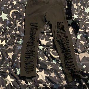 Ripped leggings size medium